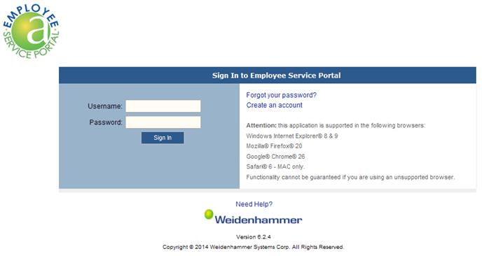 screenshot of ALIO login page