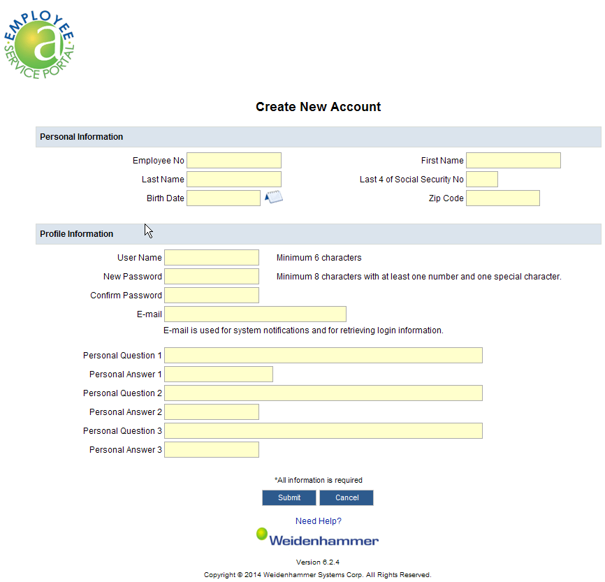 screenshot of what the registration form for ALIO