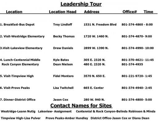 leadership tour