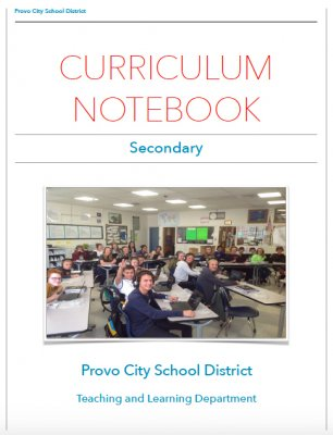 Link to Secondary Curriculm Notebook