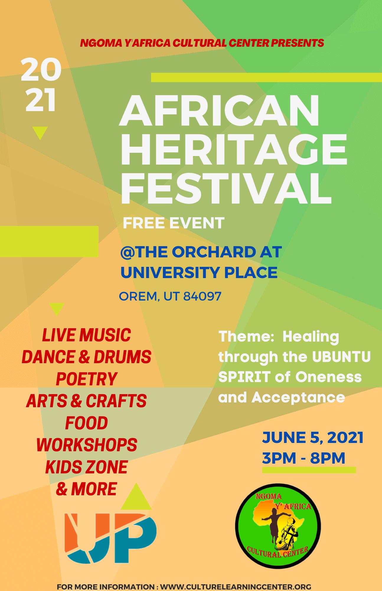 african Heritage Festival Flier