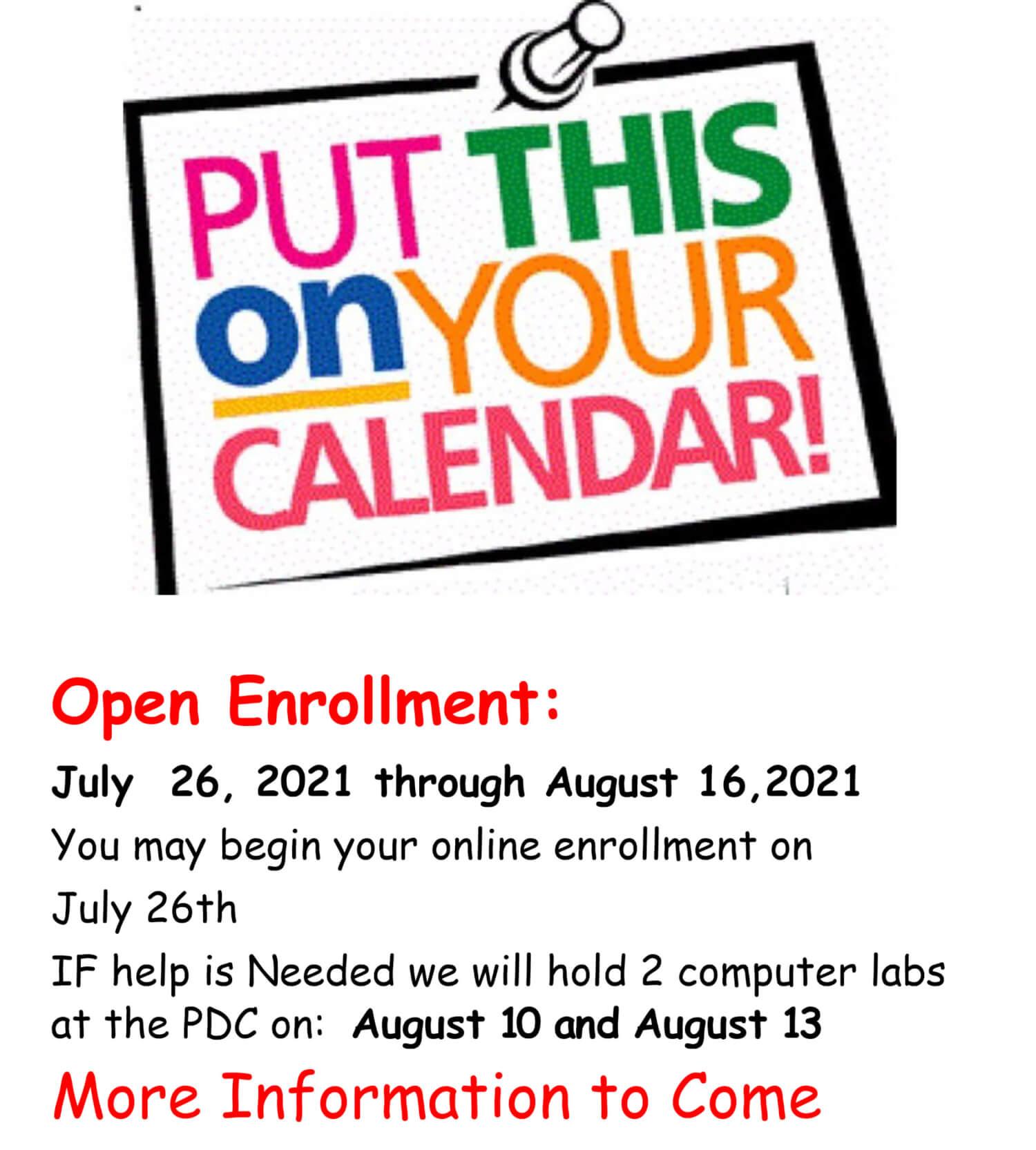 Open Enrollment Flier